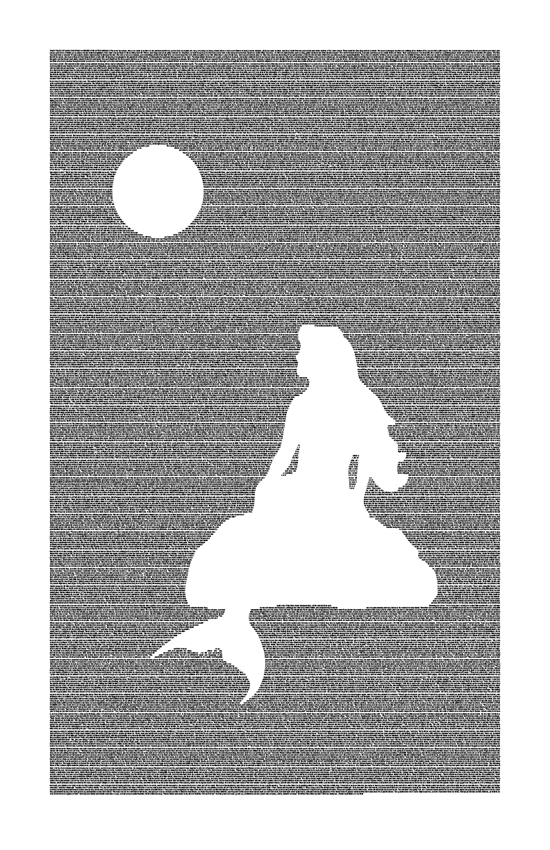 Little Mermaid poster featuring the full text from Hans Christian Andersen