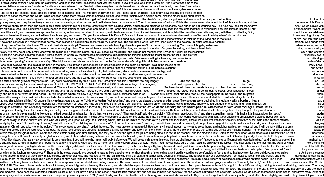 Little Mermaid full text book poster zoomed in text wrap