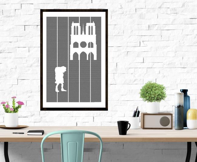 Hunchback of Notre Dame book poster
