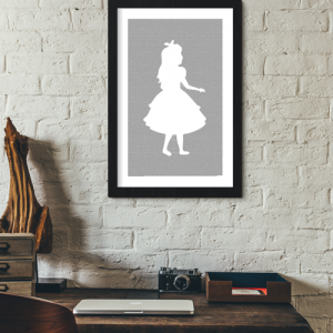 Alice in Wonderland book poster (Alice Design)