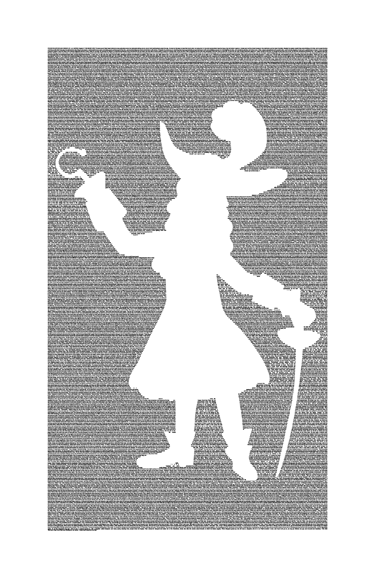 Peter Pan Book Poster (Captain Hook Design) image