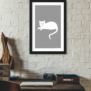Alice in Wonderland Book Poster (Cheshire Cat Design)