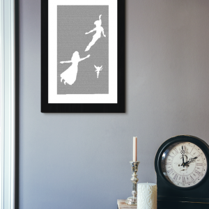 Peter Pan Book Poster (Peter, Tink, and Wendy Design)
