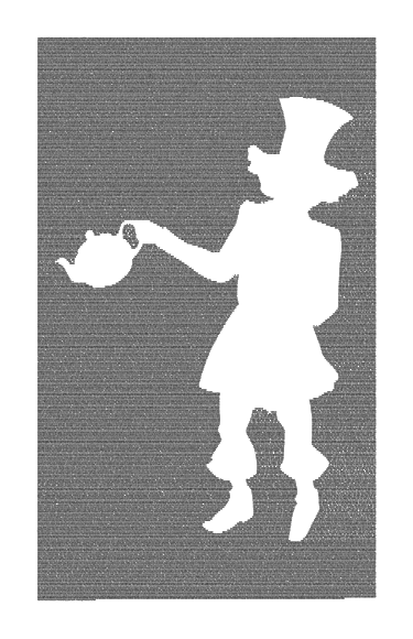 Alice in Wonderland Book Poster (Mad Hatter Design) image