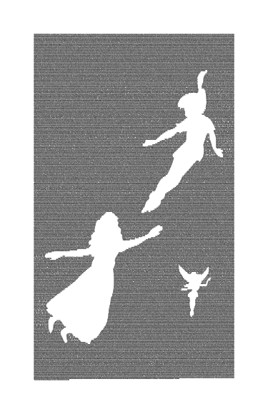 Peter Pan Book Poster (Peter, Tink, and Wendy Design) image