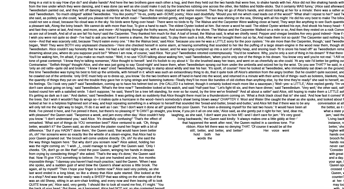 Alice in Wonderland Book Poster (Cheshire Cat Design) zoom text wrap