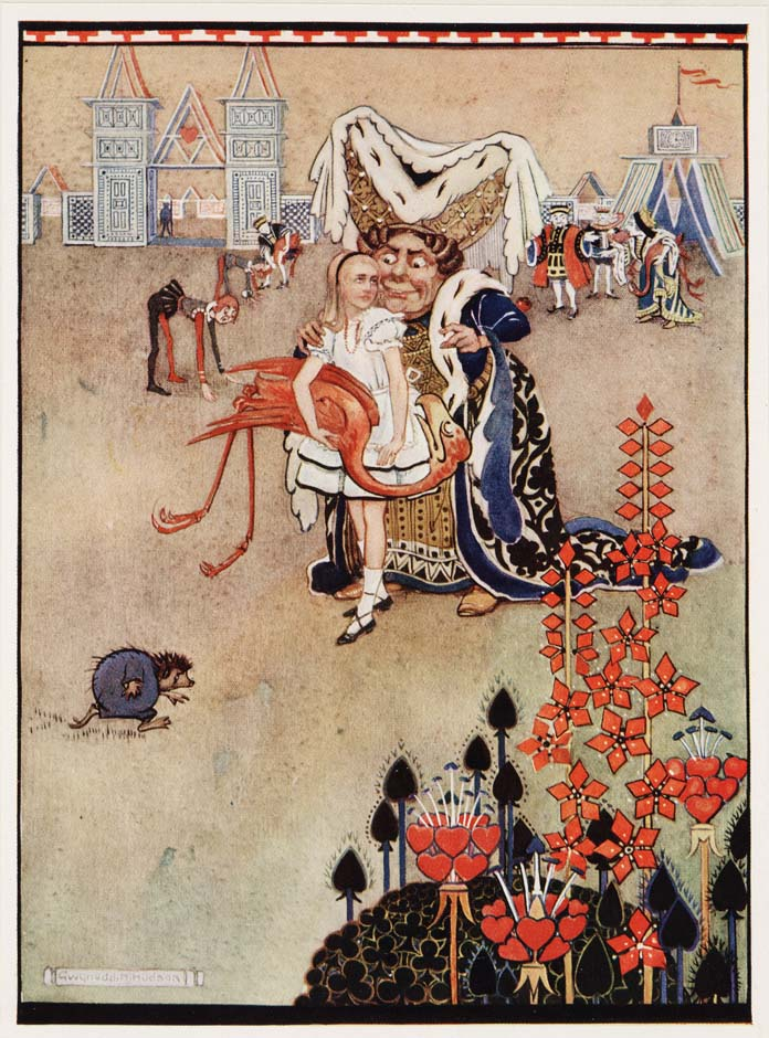 Alice in Wonderland (Illustrator: Hudson, 1922?) Croquet with the Duchess