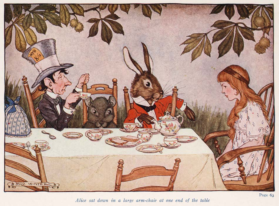 Alice in Wonderland (Illustrator: Winter, 1924) Mad Tea Party