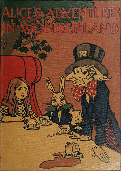 Alice in Wonderland book cover (1907), illustrated by Charles Robinson