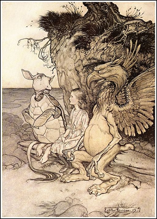 Alice in Wonderland illustration by Arthur Rackham