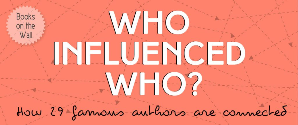 Who Influenced Who?: How 29 Famous Authors Are Connected infographic banner