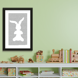 Velveteen Rabbit book poster featuring the full text of Margery Williams' novel