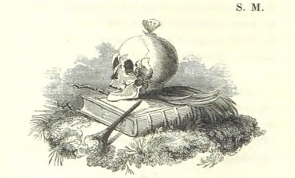 Image taken from page 70 of '[Death's Doings; consisting of numerous original compositions, in prose and verse, the ... contributions of various writers; principally intended as illustrations of twenty-four plates designed and etched by R. Dagley.]'