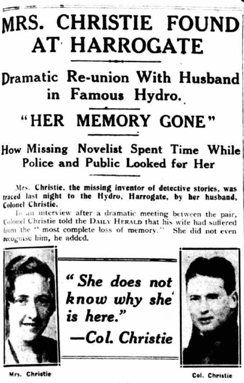 Agatha Christie found