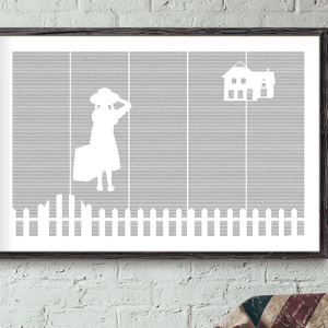 Anne of Green Gables book poster mockup image