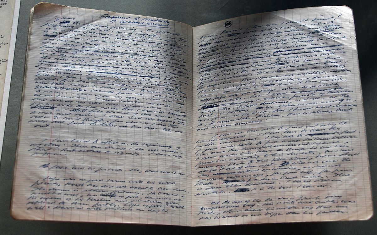 Manuscript of Embers, a one-act radio play by Samuel Beckett