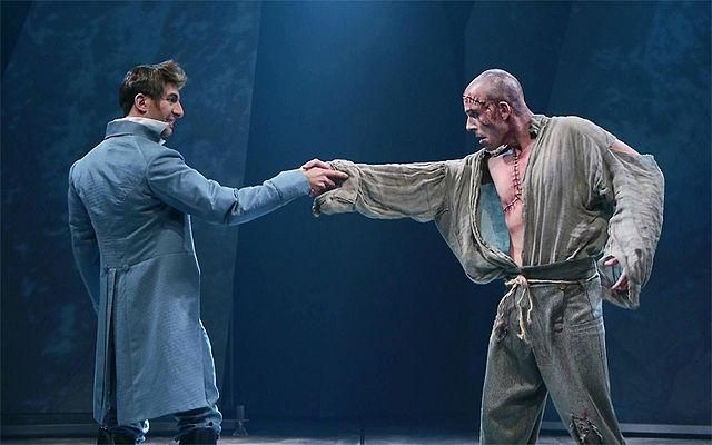 Christian Michaud (Victor Frankenstein) et Étienne Pilon (La Créature)