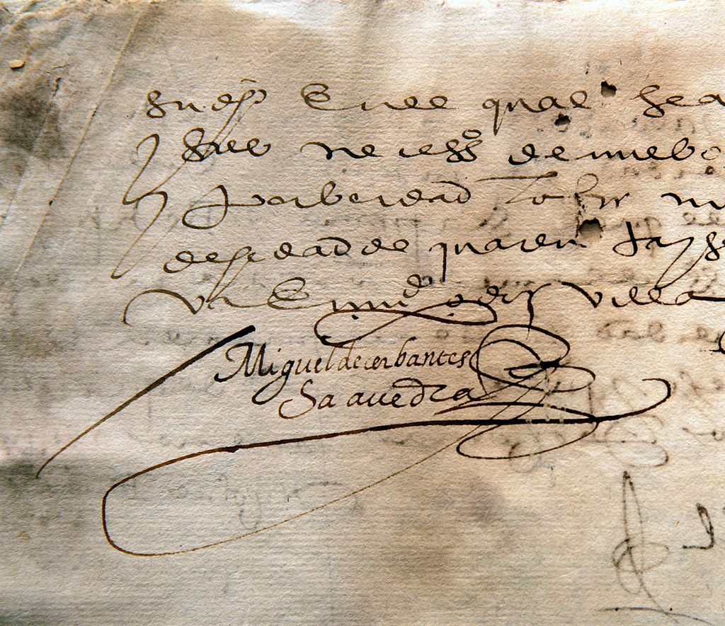 Signature of Miguel de Cervantes