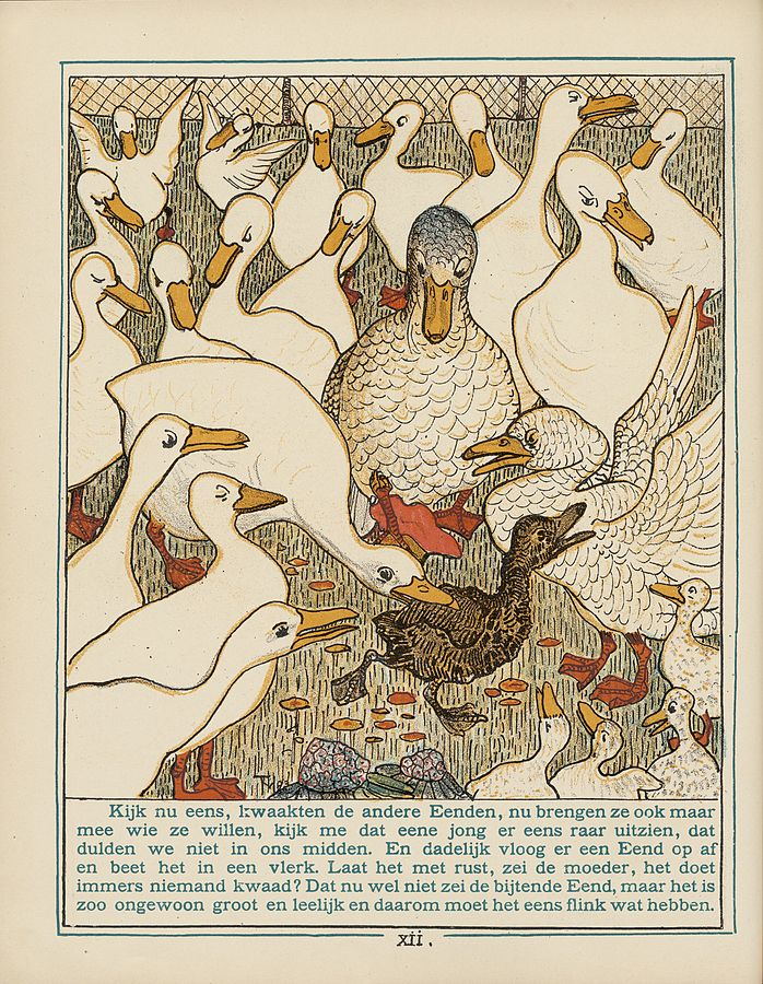 The Ugly Duckling Illustration from a Dutch edition