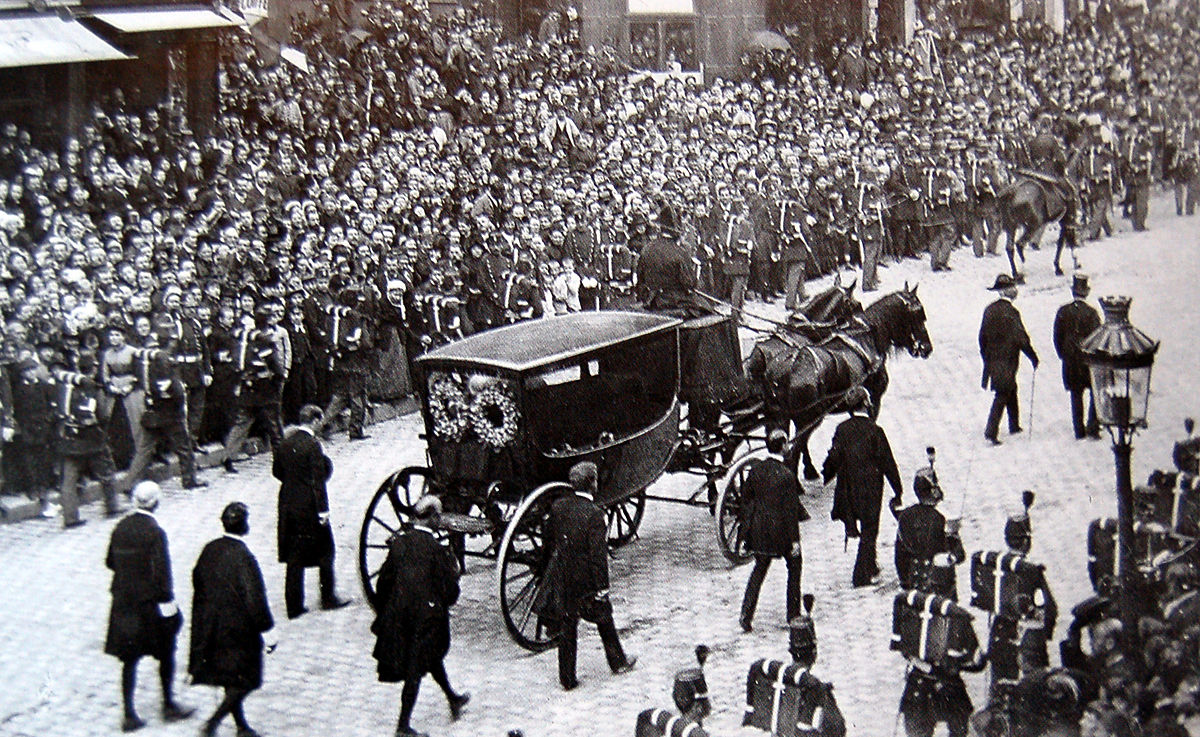 Victor Hugo's burial in 1885