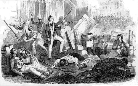June Rebellion of 1832 engraving
