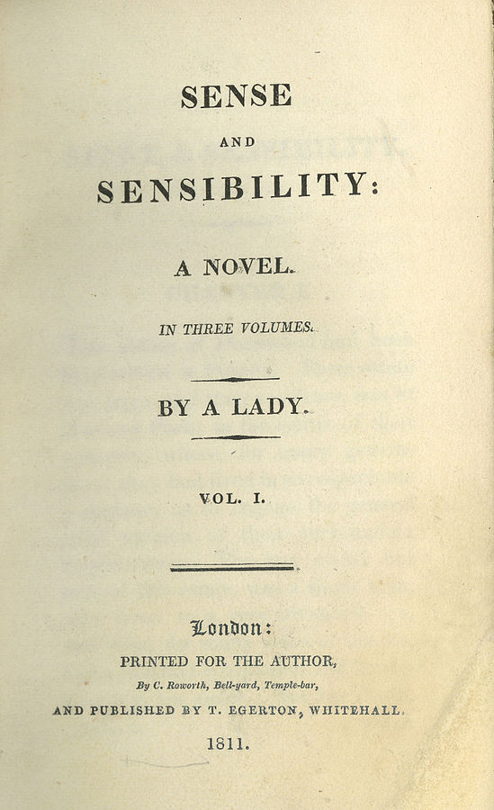 Sense and Sensibility first edition