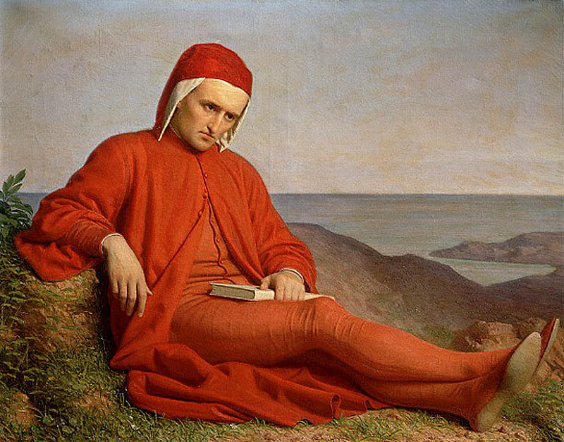 Dante in esilio, Domenico Peterlini (attributed), circa 1860