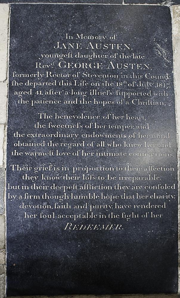 Jane Austen's grave memorial
