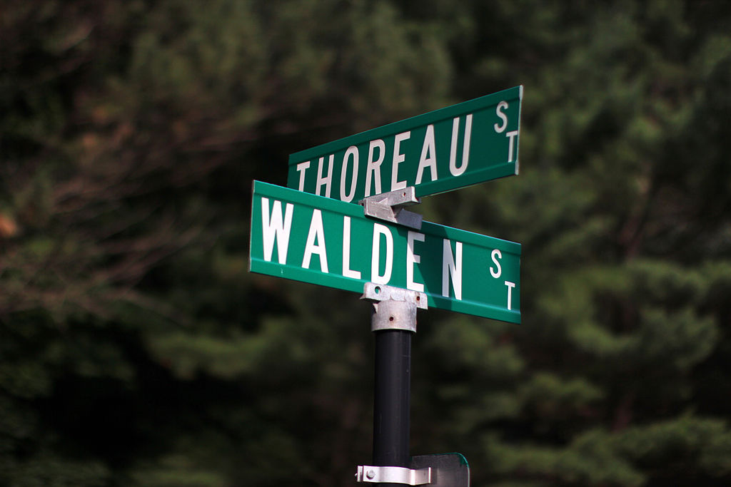 Thoreau and Walden Streets in Concord, MA