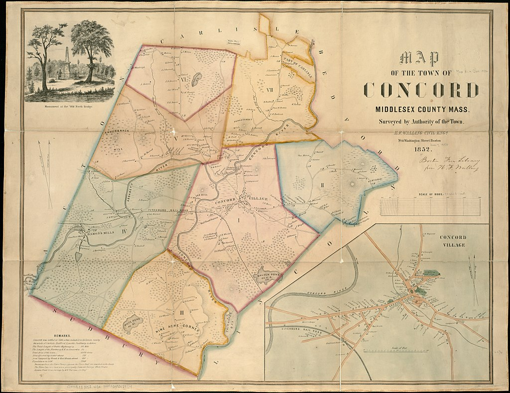 Map of the town of Concord, MA