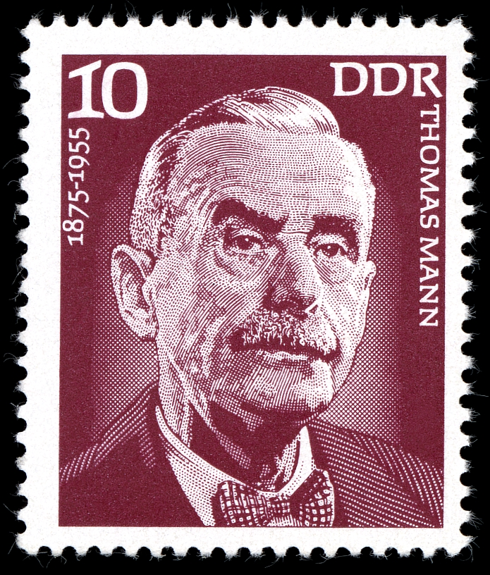 Thomas Mann on German Stamp in 1975