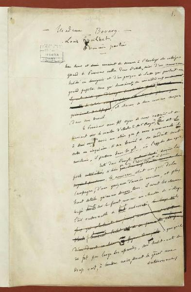 Manuscript of Madame Bovary by Gustave Flaubert