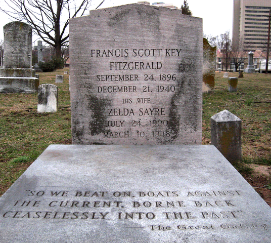 Grave of F. Scott and Zelda Fitzgerald