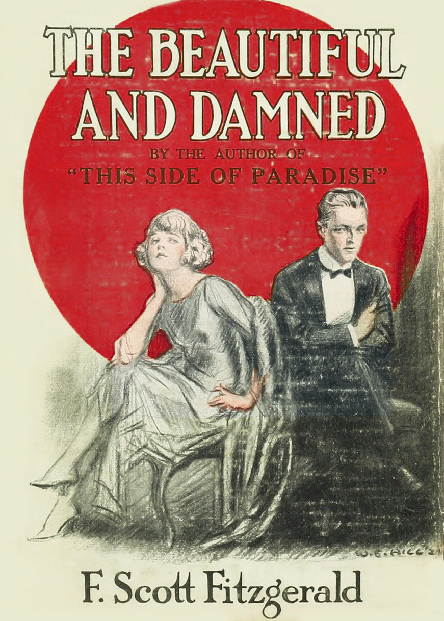 First Edition Cover of the Beautiful and the Damned by William Ely Hill (1887-1962)