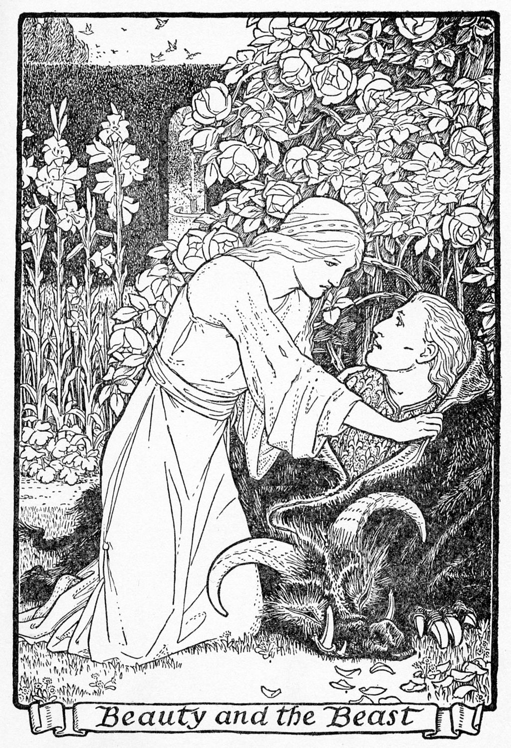 Beauty and the Beast Europa's Fairy Book Illustration