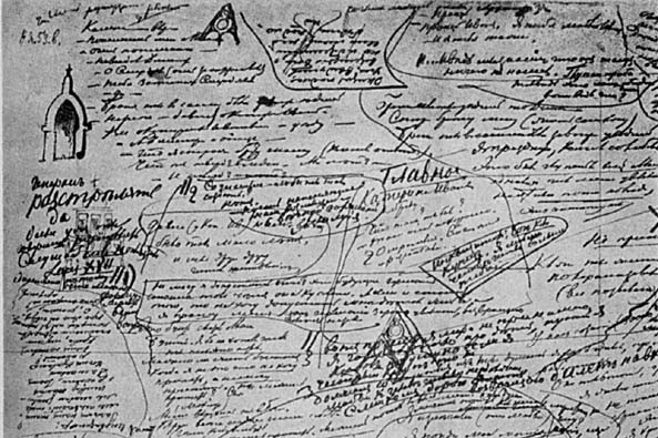 Dostoyevsky's notes for Chapter 5 of The Brothers Karamazov