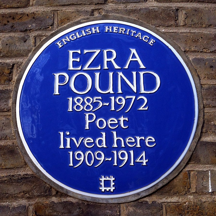 Ezra Pound plaque in English home