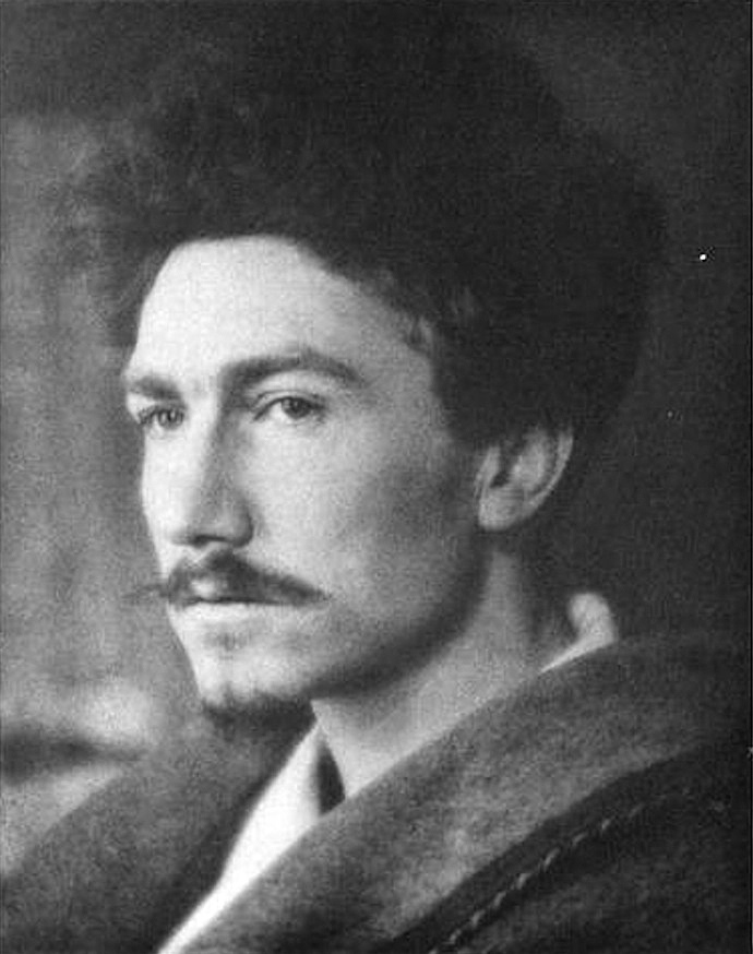 Ezra Pound photographed in Kensington, London, October 22, 1913, by Alvin Langdon Coburn