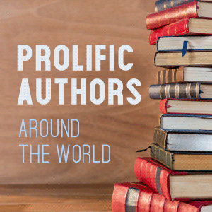Five Prolific Authors Around the World - blog badge