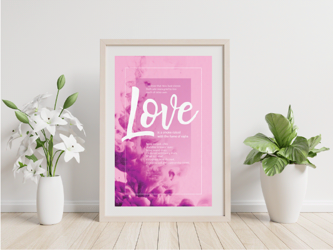 Poster Mockup – Fume of Sighs – Romeo and Juliet quote – Shakespeare